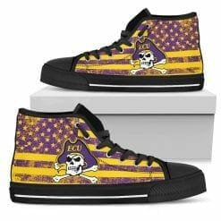 NCAA East Carolina Pirates High Top Shoes
