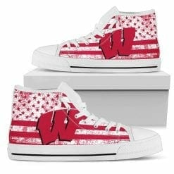 NCAA Wisconsin Badgers High Top Shoes