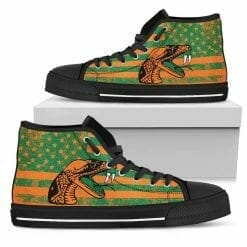 NCAA Florida A&M Rattlers High Top Shoes