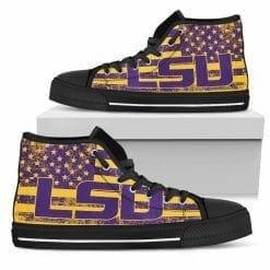 NCAA LSU Tigers High Top Shoes