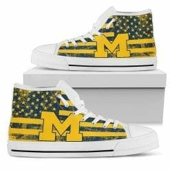 NCAA Michigan Wolverines High Top Shoes