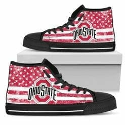 NCAA Ohio State Buckeyes High Top Shoes