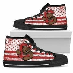 NCAA Cornell Big Red High Top Shoes