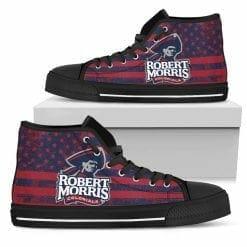 NCAA Robert Morris Colonials High Top Shoes
