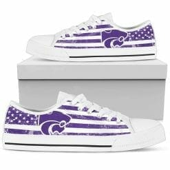 NCAA Kansas State Wildcats Low Top Shoes