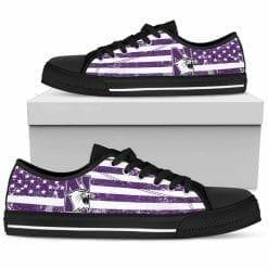 NCAA Northwestern Wildcats Low Top Shoes