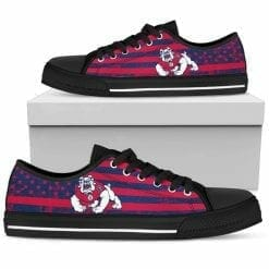 NCAA Fresno State Bulldogs Low Top Shoes