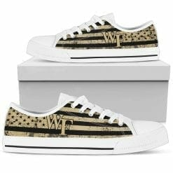 NCAA Wake Forest Demon Deacons Low Top Shoes