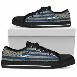 NCAA Akron Zips Low Top Shoes