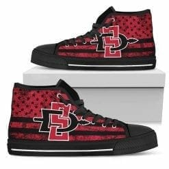 NCAA San Diego State Aztecs High Top Shoes