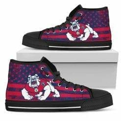 NCAA Fresno State Bulldogs High Top Shoes