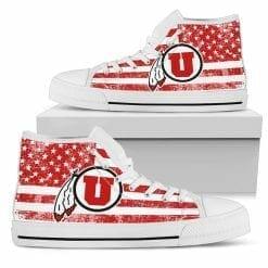 NCAA Utah Utes High Top Shoes
