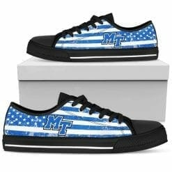 NCAA Middle Tennessee State Blue Raiders Low Top Shoes