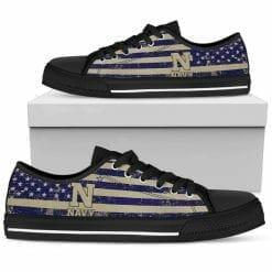 NCAA Navy Midshipmen Low Top Shoes
