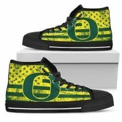 NCAA Oregon Ducks High Top Shoes