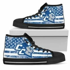 NCAA Central Connecticut State Blue Devils High Top Shoes