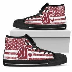 NCAA Washington State Cougars High Top Shoes