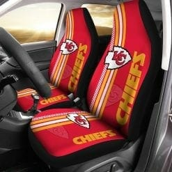 NFL Kansas City Chiefs Pair of Car Seat Covers