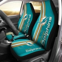 NFL Miami Dolphins Pair of Car Seat Covers
