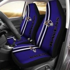 NFL Baltimore Ravens Pair of Car Seat Covers