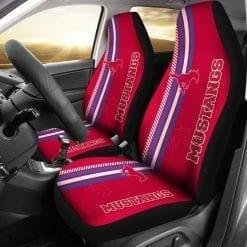 NCAA SMU Mustangs Pair of Car Seat Covers