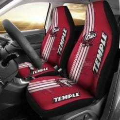 NCAA Temple Owls Pair of Car Seat Covers