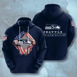 NFL Seattle Seahawks 3D Hoodie V1