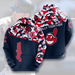 MLB Cleveland Indians 3D Hoodie V1