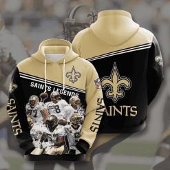 NFL New Orleans Saints 3D Hoodie V10