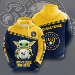 MLB Milwaukee Brewers 3D Hoodie V10