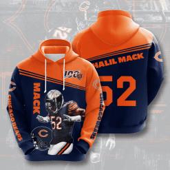 NFL Chicago Bears 3D Hoodie V10