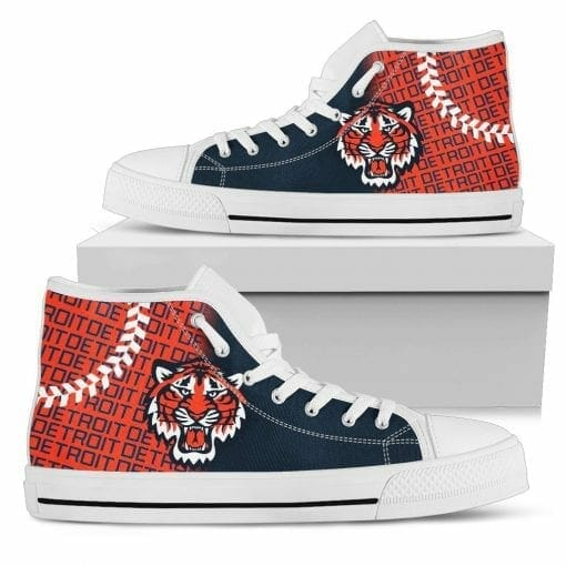 MLB Detroit Tigers High Top Shoes