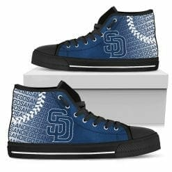 MLB San Diego Padres High Top Shoes