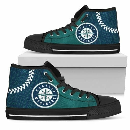 MLB Seattle Mariners High Top Shoes