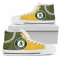 MLB Oakland Athletics High Top Shoes