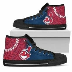 MLB Cleveland Indians High Top Shoes