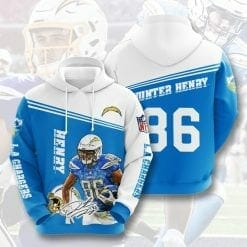 NFL Los Angeles Chargers 3D Hoodie V11