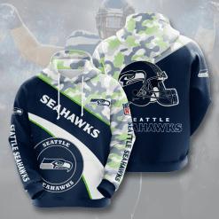 NFL Seattle Seahawks 3D Hoodie V11