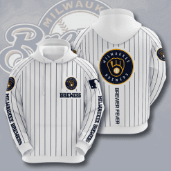 MLB Milwaukee Brewers 3D Hoodie V11
