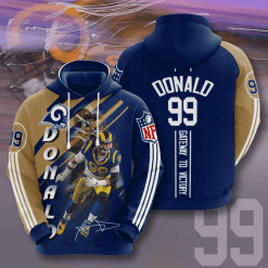 NFL Los Angeles Rams 3D Hoodie V12