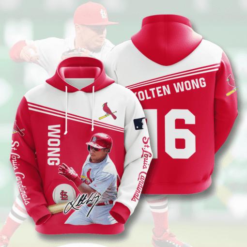 MLB St. Louis Cardinals 3D Hoodie V12