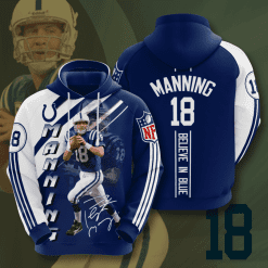NFL Indianapolis Colts 3D Hoodie V13