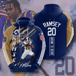 NFL Los Angeles Rams 3D Hoodie V13