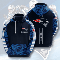 NFL New England Patriots 3D Hoodie V13