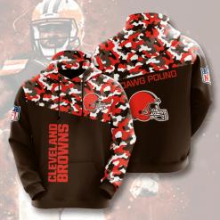 NFL Cleveland Browns 3D Hoodie V13