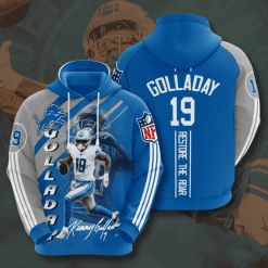 NFL Detroit Lions 3D Hoodie V13
