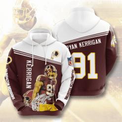 NFL Washington Redskins 3D Hoodie V14