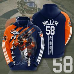 NFL Denver Broncos 3D Hoodie V14