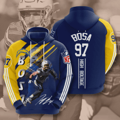 NFL Los Angeles Chargers 3D Hoodie V15