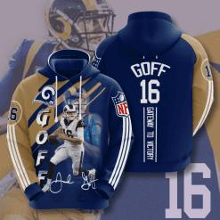 NFL Los Angeles Rams 3D Hoodie V15